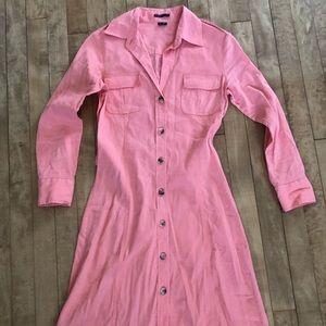🌱Theory Long Sleeve Safari Shirt Dress Sz 2